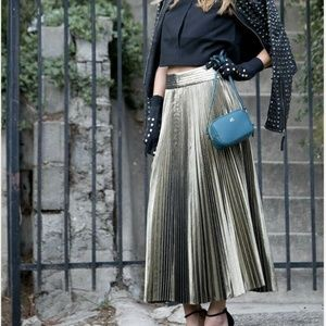 Kate Spade Saturday Gold Pleated Skirt